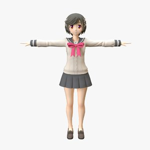 3D character girl