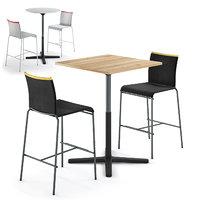 Vitra Super Fold table and Calligaris Web stool