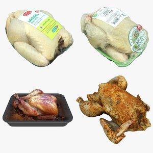 3D chicken turkey model