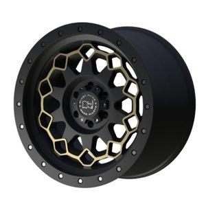 3D diamante black rhino wheel model