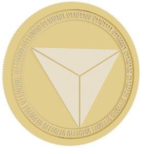 3D pyrexcoin gold coin model