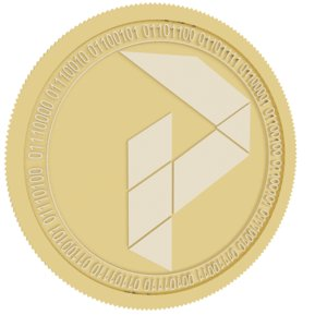 pure gold coin 3D