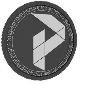 3D model pure black coin