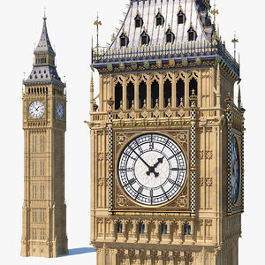 big ben clock tower 3D