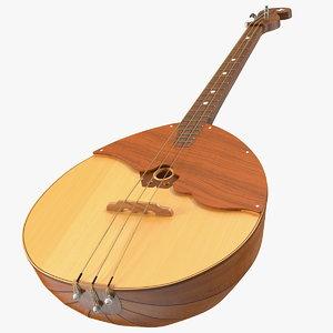 3D domra instrument string model