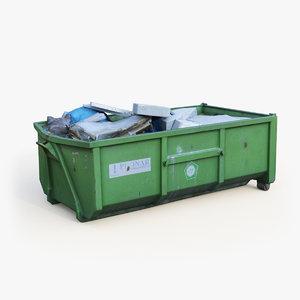 3D dumpster dump