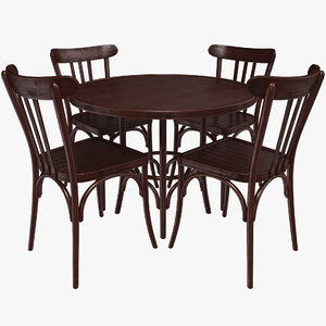 french restaurant table 3D model