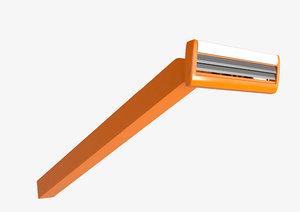 plastic disposable razor 3D
