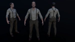 noir character 3D model