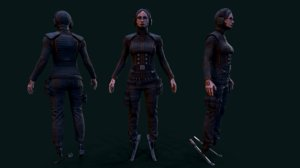 3D girl ready model