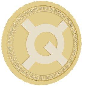 quantstamp gold coin 3D model
