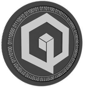 qbic black coin 3D