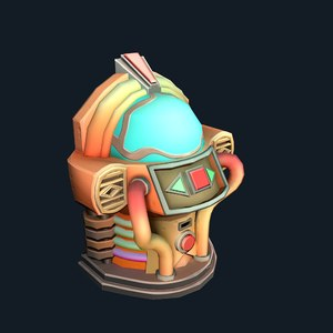 3D stylized jukebox