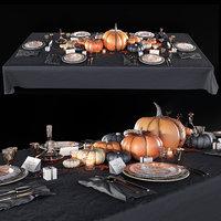 Golden autumn table set