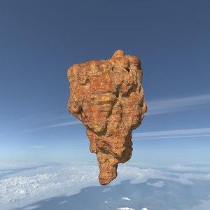 polys landscape mountain rock stone model