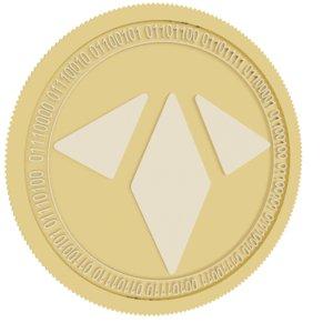 rae token gold coin 3D model