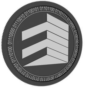 real black coin 3D model