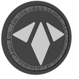 3D model rae token black coin