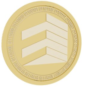 real gold coin model