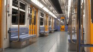 3D metro train