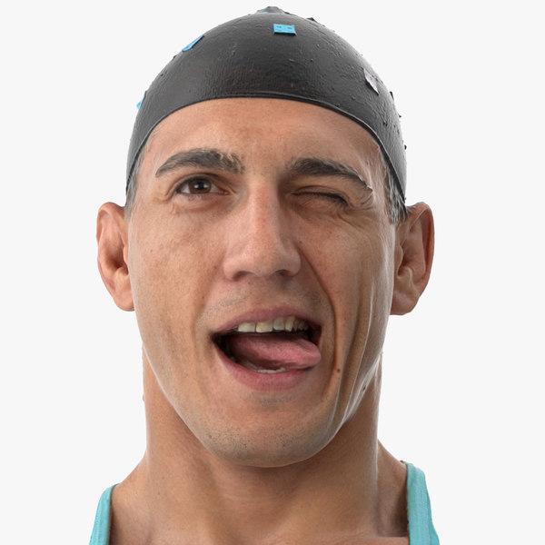 3D model mike human head funny