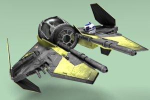 anakin s jedi starfighter 3D