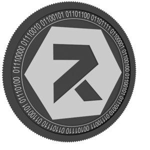 reftoken black coin 3D model