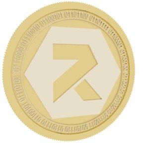 3D model reftoken gold coin