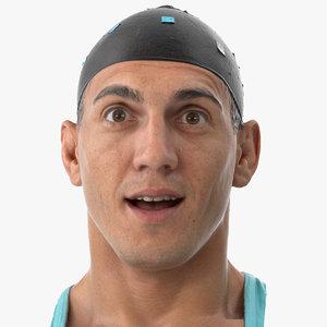 3D mike human head surprize