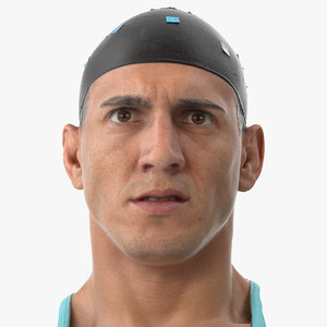 mike human head anger 3D model