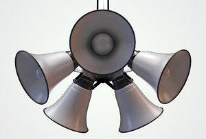 horn loudspeakers 3D model