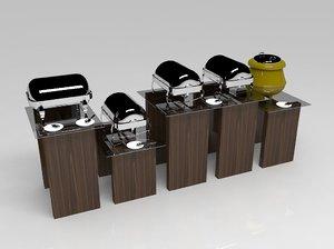 buffet table model