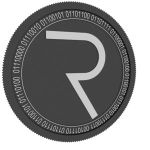 request network black coin 3D model