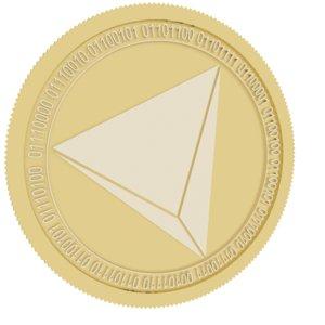 3D rialto gold coin