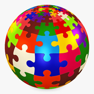 3D colored sphere puzzle v