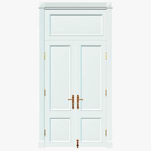 old interior door 3D model