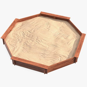 wooden octagon sandbox model