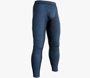 skinny medieval pants blue 3D model