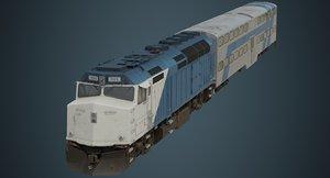 locomotive railcar 3D model