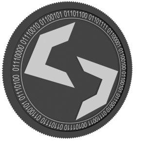 3D model scala black coin