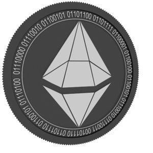 sapphire black coin 3D