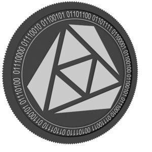 3D rozeus black coin model