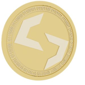 scala gold coin 3D model