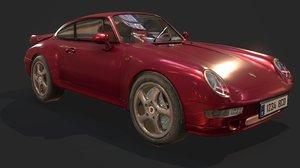 porsche turbo 993 3D model