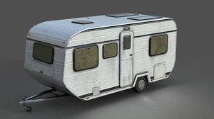 caravan unity 3D model