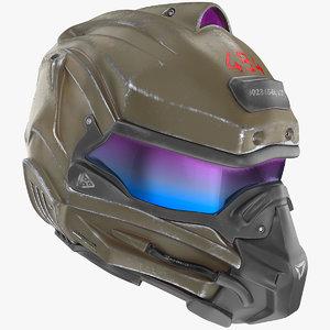 sci fi futuristic military 3D model