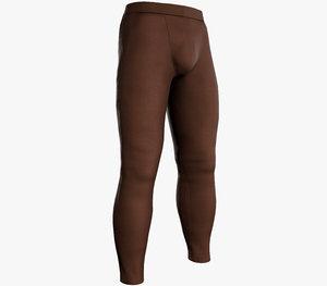 3D skinny medieval pants brown model