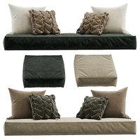 Seat pillow set 8