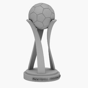 football award cup 3D