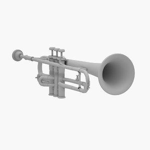 trumpet musical instrument 3D model